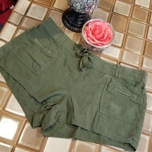 SO Brand Linen Blend Drawstring Shorts